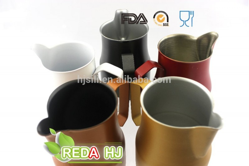 カラーコーヒーアクセサリーコーヒー芸術ステンレス鋼ミルクピッチャー用バリスタ-コーヒーセット、ティーセット問屋・仕入れ・卸・卸売り