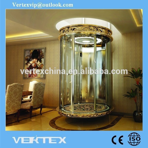 工場直接売却安い価格操作ホームエレベーター低コストのガラス問屋・仕入れ・卸・卸売り
