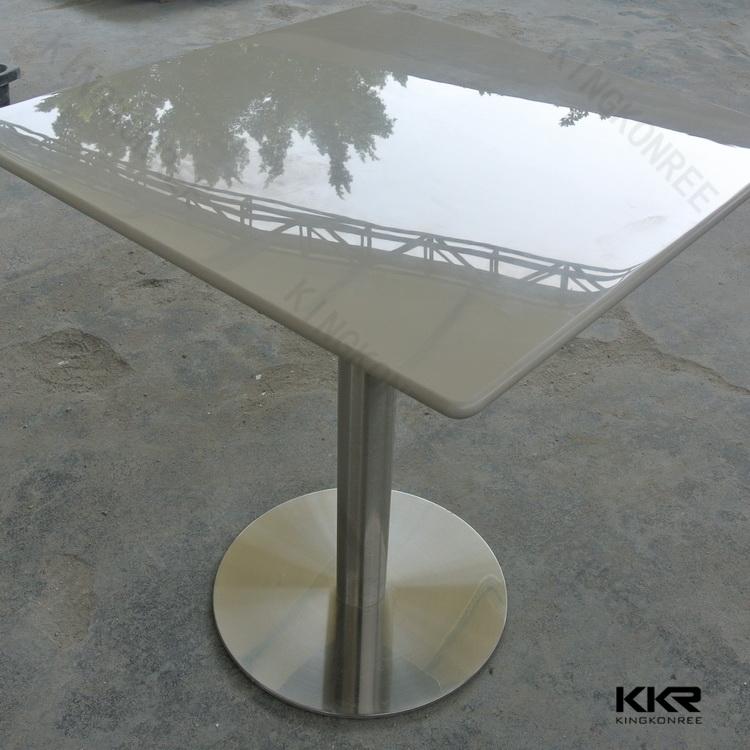 近代的なシャープなエッジのアクリルの石固体表面仕上げのダイニングテーブル問屋・仕入れ・卸・卸売り