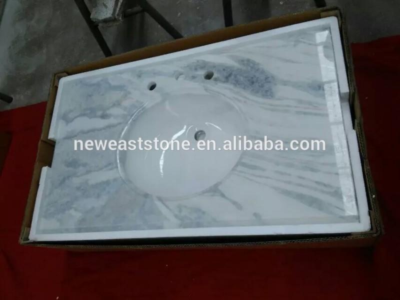 中国の夢白オニキス大理石カウンター白い浴室の洗面台で安い価格問屋・仕入れ・卸・卸売り