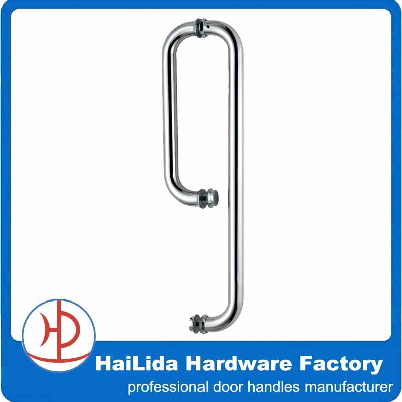 Hld-626磨かれたステンレス鋼のドアハンドル、 シャワーのドアハンドル問屋・仕入れ・卸・卸売り