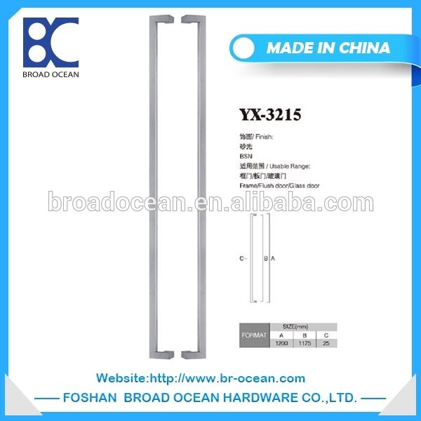 YX-3215中国サプライヤー安い高品質ステンレス鋼スクエア現代ドアプルハンドル問屋・仕入れ・卸・卸売り