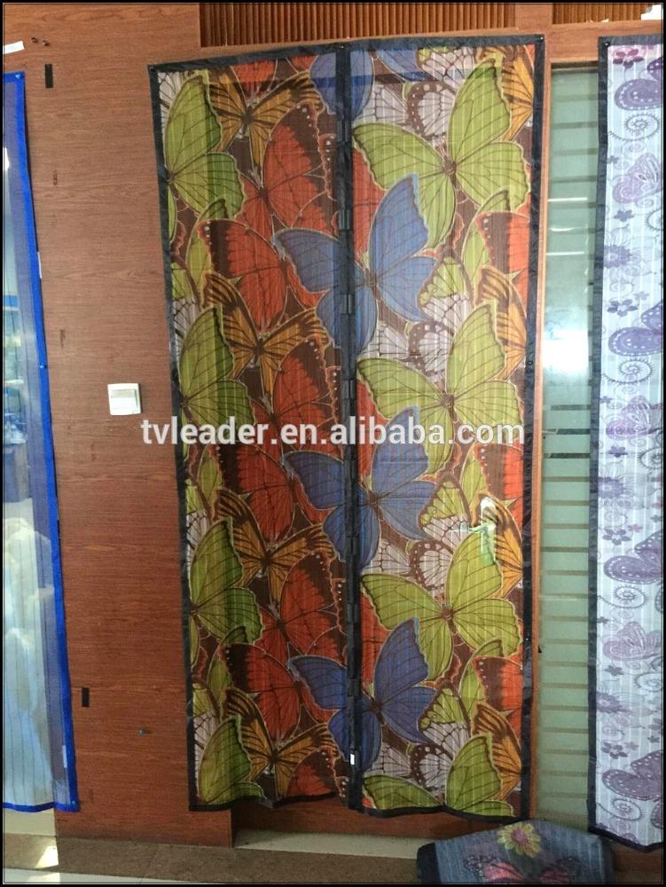 夏熱い販売カラフルなドアカーテン保つバグアウト磁気ハンズフリー網戸、これ以上、蚊や飛翔昆虫問屋・仕入れ・卸・卸売り