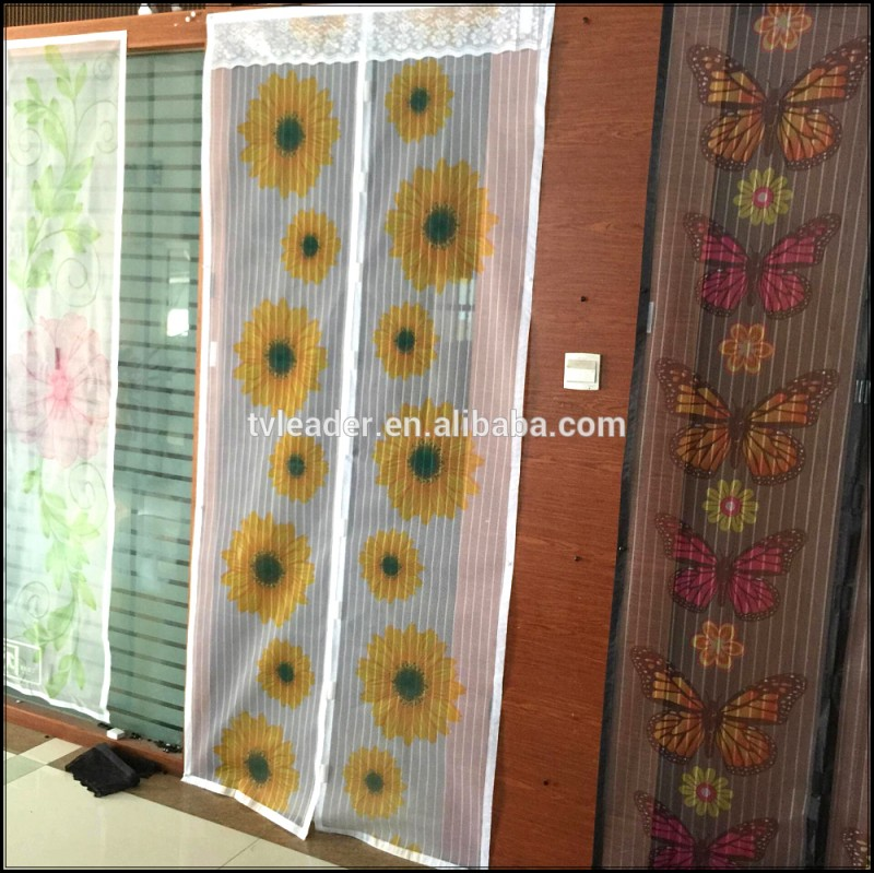 2016新しいデザイン磁気蚊帳ドアカーテン、カラフルな印刷ハンズフリーメッシュカーテン問屋・仕入れ・卸・卸売り
