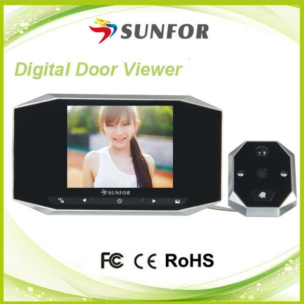 3.5インチのカラー画面動き検知ビデオののぞき穴のドアカメラ用ワイヤレスホーム問屋・仕入れ・卸・卸売り