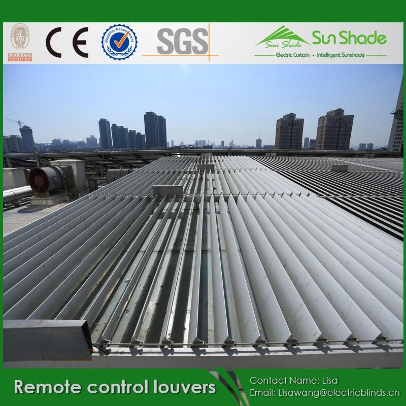 調整可能なアルミ製リモコン太陽シェーディングルーバー問屋・仕入れ・卸・卸売り