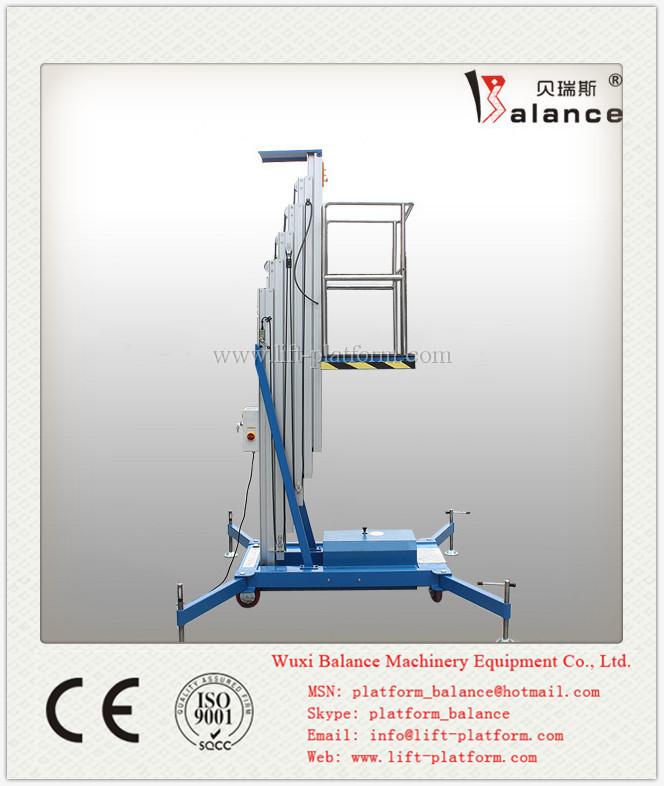アルミシングル人油圧リフト/垂直マストリフト問屋・仕入れ・卸・卸売り