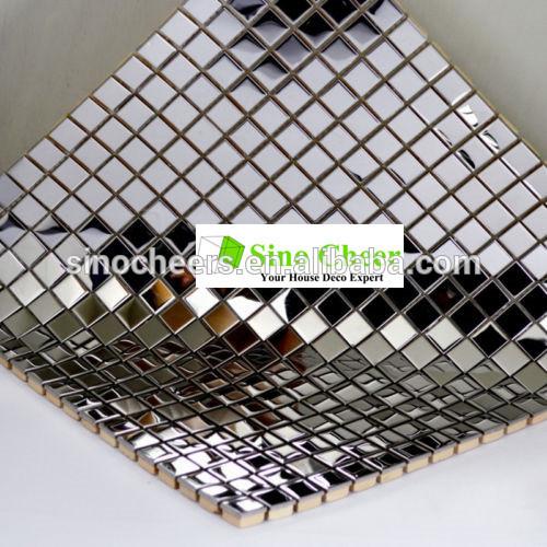 良質正方形をメタリック製の金属のモザイクタイルのための壁のモザイクの台所backsplashの問屋・仕入れ・卸・卸売り