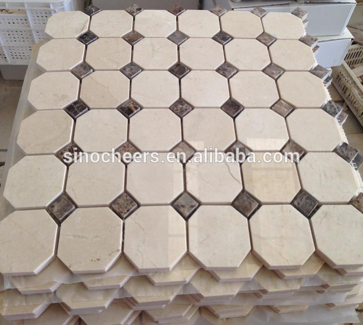 クレママーフィル大理石六角形のモザイクタイル、 白六角形のタイル問屋・仕入れ・卸・卸売り