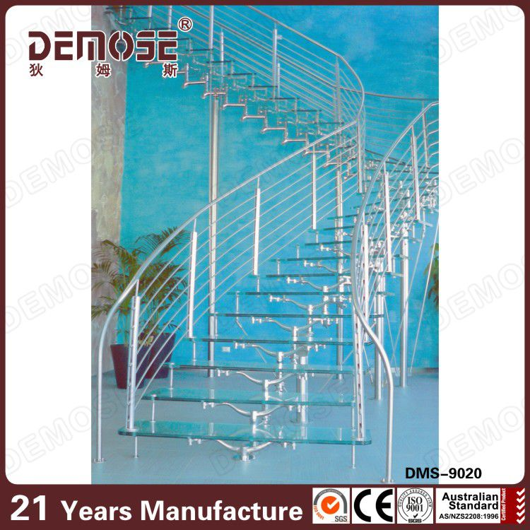 ファンシーステンレス鋼手すりシステムガラス階段問屋・仕入れ・卸・卸売り
