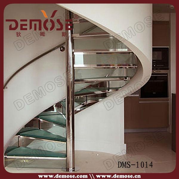 屋内階段の手すり鋼スパイラルガラス問屋・仕入れ・卸・卸売り